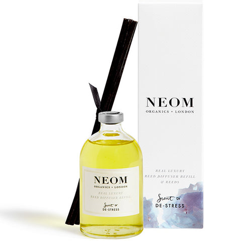 Neom Organics Real Luxury Reed Diffuser Refill, 100ml -Scent To De-Stress