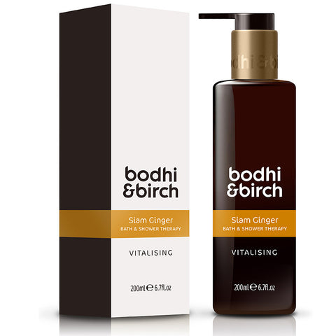 Bodhi & Birch Siam Ginger Vitalising Bath & Shower Therapy, 200ml - Natural, vegan & SLS free