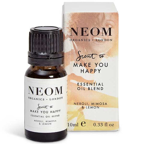 Neom Organics SCENT TO MAKE YOU HAPPY Happiness Essential Oil Blend, 10ml - to help you balance & uplift your mood - use w/ Wellbeing Pod or bath & sauna