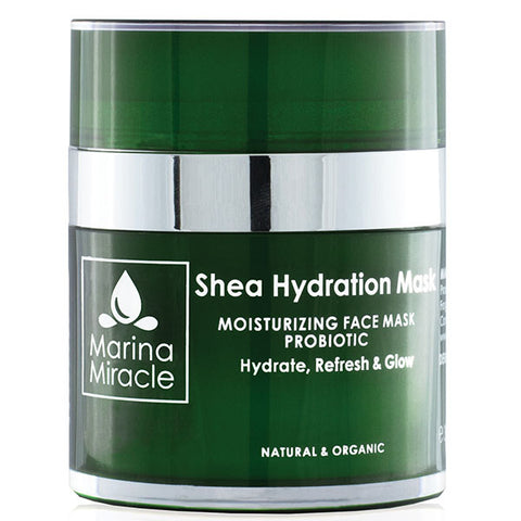 Marina Miracle Shea Hydration Mask, 30ml - moisturising probiotic face mask - hydrate, refresh & glow - alice&white sthlm