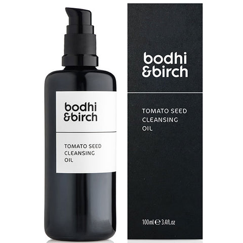 Bodhi & Birch Tomato Seed Cleansing Oil, 100ml - essential oil free, mixable, multi-use, skincare w/potent superfood ingredients & pure natural minerals