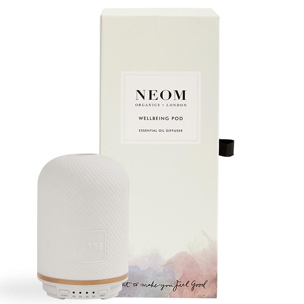 Neom Organics WELLBEING POD Essential Oil Diffuser - humidifies the air around you whilst transforming your home with natural scent of wellbeing boost