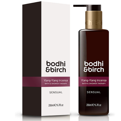 Bodhi & Birch Ylang-Ylang Incensa Sensual Bath & Shower Therapy, 200ml - Natural, vegan & SLS free - alice&white sthlm