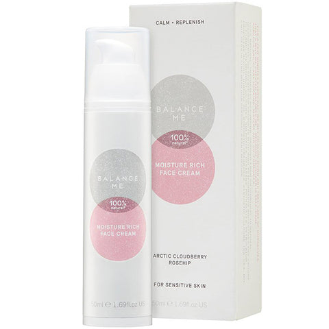 Balance Me Moisture-Rich Face Cream, 50ml - CALM + REPLENISH - rejuvenates + reduces redness