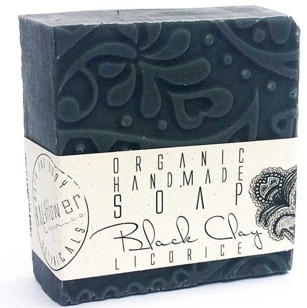 KaliFlower Organics Black Clay Licorice 120g - organic artisan soap with Anise, Fennel, Licorice root powder - alice&white sthlm