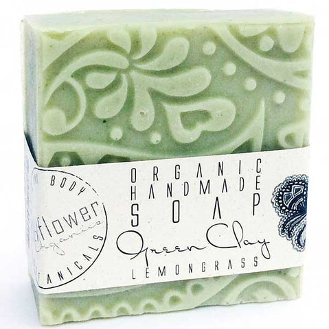KaliFlower Organics Green Clay Lemongrass organic artisan soap