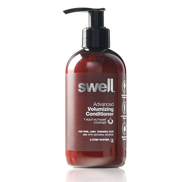 Swell Advanced Volumizing Conditioner, 250ml - SLS-free, w/ powerful botanicals, all hair types, especially dry, thin, frizzy