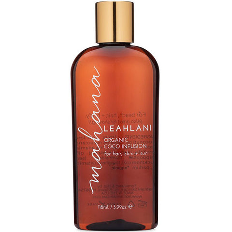 Leahlani Skincare MAHANA Coco Infusion, 118ml - vanilla bean & sweet coconut, skin softening, tropical multi-purpose body oil for hair, skin & sun