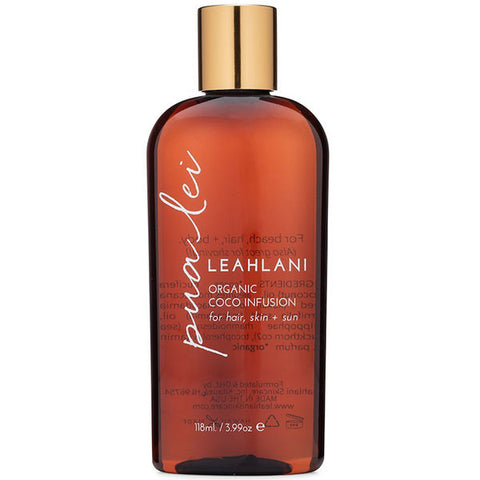 Leahlani Skincare PUA LEI Coco Infusion, 118ml - sweet & delicate creamy blend of tropical florals, multi-purpose body oil for hair, skin & sun