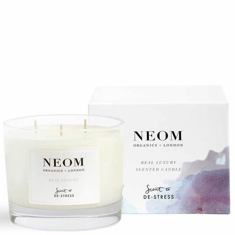 Neom Organics REAL LUXURY Scented Candle, 3 wick/420gr - Lavender, Brazilian Rosewood & Jasmine - alice&white sthlm