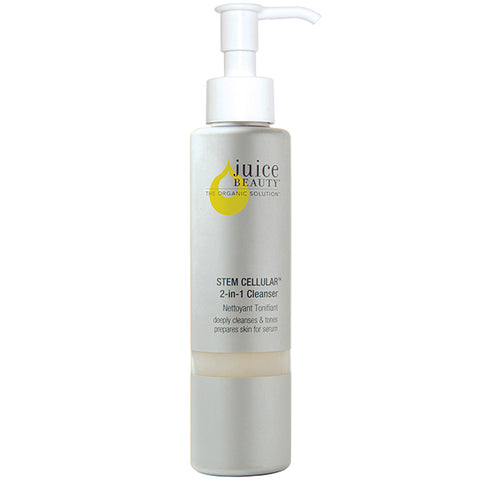 Juice Beauty STEM CELLULAR 2-in-1 Cleanser, 133ml - gentle, anti-wrinkle & toning w/ mineral rich algae, fruit stem cells & Vitamins C+E