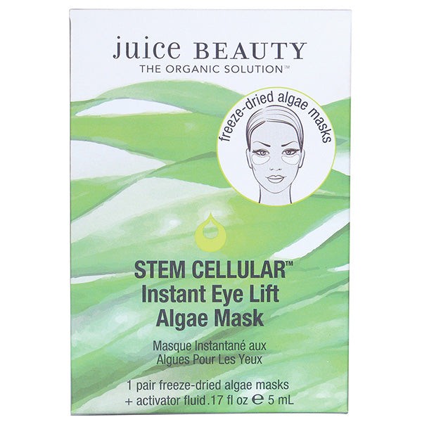 Juice Beauty STEM CELLULAR Instant Eye Lift Algae Mask - Single Treatment - clinically validated, reduced appearance of fine lines, wrinkles & puffiness, instantly leaving your eyes brightened & refreshed
