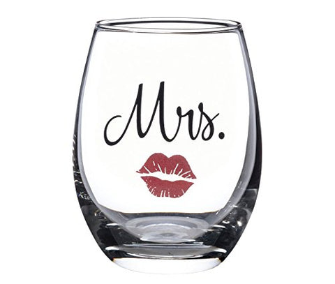 Mrs. Red Lips Stemless Wine Glass - Victobelle