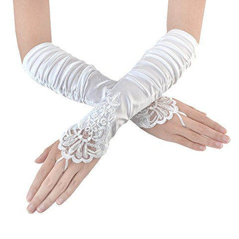 Fingerless Bridal Gloves - Victobelle