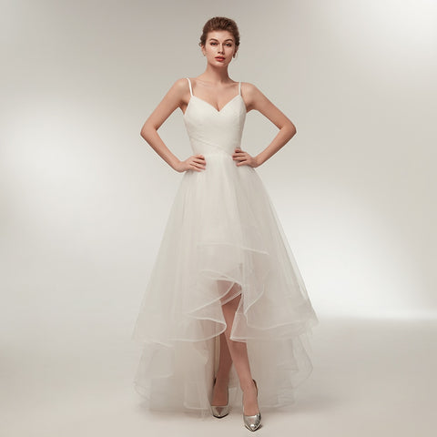 Romantic Hi-Lo Wedding Gown - Victobelle