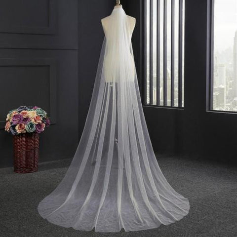 Cathedral Wedding Veil (Ivory ) - Victobelle