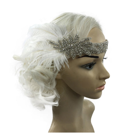 Feather Wedding Headband - Victobelle