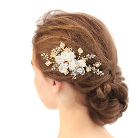Blossoming flower Hair Comb - Victobelle