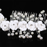 Flower Bridal Hair Comb - Victobelle