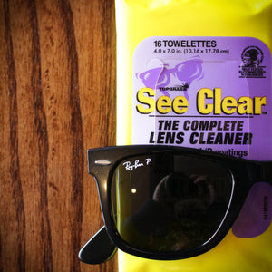 See Clear Lens cleaner wipes 12 pack box Wipemart