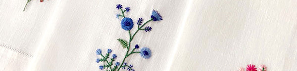 New Hand Embroidered Guest Towels