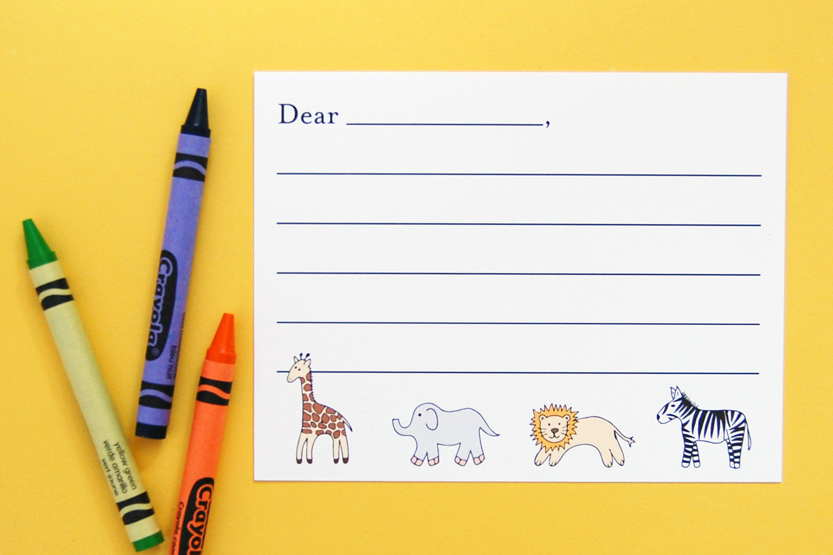 Kids' Thank You Note Cards