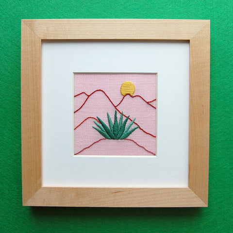 Happy Cactus Designs Hand Embroidery inspired by the Desert Southwest