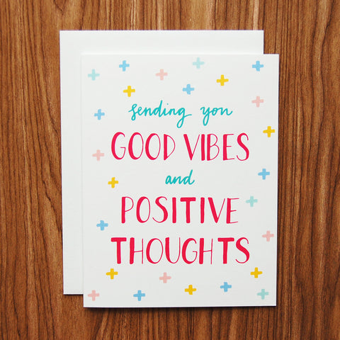 Good Vibes Card by Happy Cactus Designs