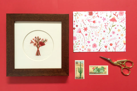 Happy Cactus Designs Hand Embroidered Artwork and Stationery