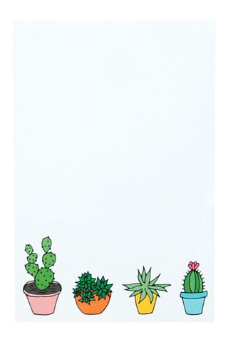 Cactus Notepad by Happy Cactus Designs