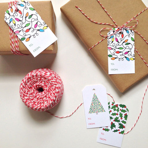 Christmas Gift Tags by Happy Cactus Designs