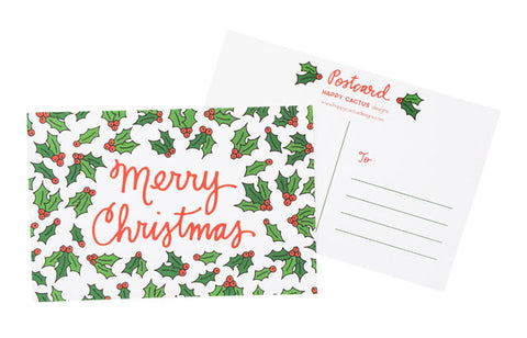 Happy Cactus Designs Christmas Postcards