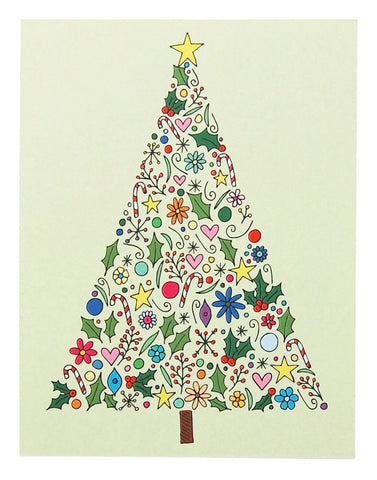 Christmas Tree Card by Happy Cactus