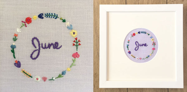 Custom hand embroidery by Happy Cactus Designs
