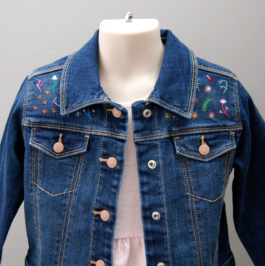 Girl's Embroidered Denim Jacket (Size 4T)