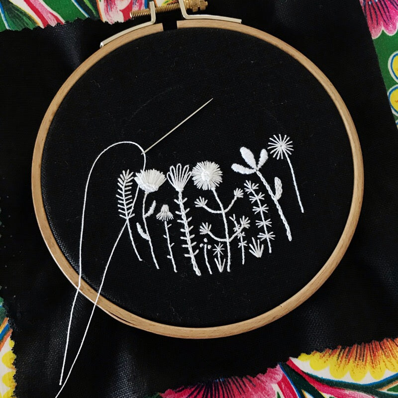 Happy Cactus Designs Hand Embroidered Artwork • Image and design copyright Happy Cactus Designs LLC 2019