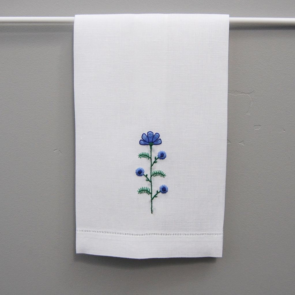 Happy Cactus Designs Hand Embroidered Floral Hand Towel • Image and Design Copyright Happy Cactus Designs LLC