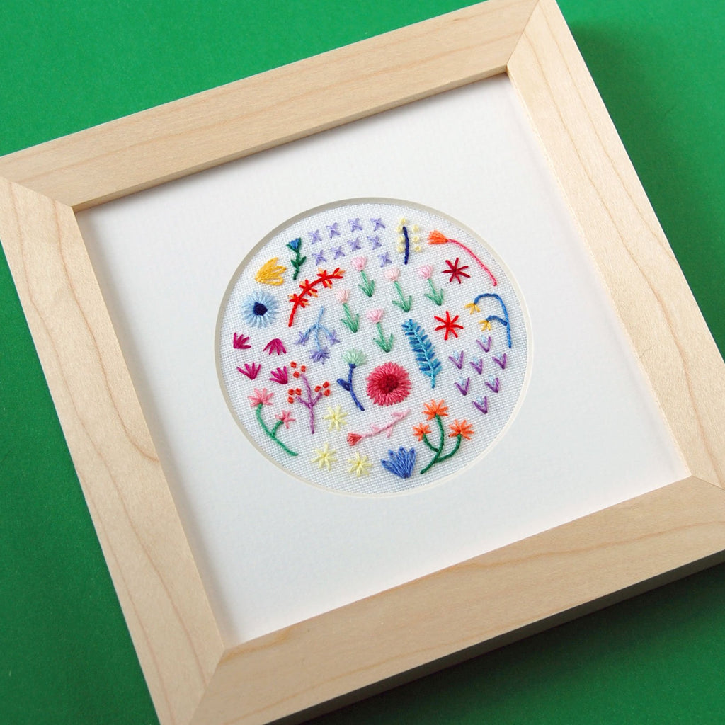 Happy Cactus Designs Hand Embroidered Artwork • Image and Design Copyright Happy Cactus Designs LLC