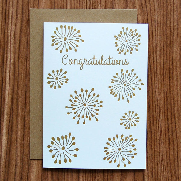 congratulations gold foil greeting card