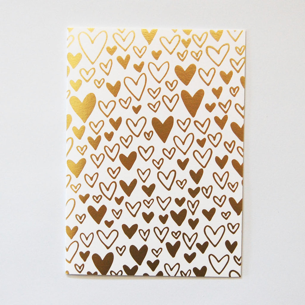 Hearts Gold Foil Card
