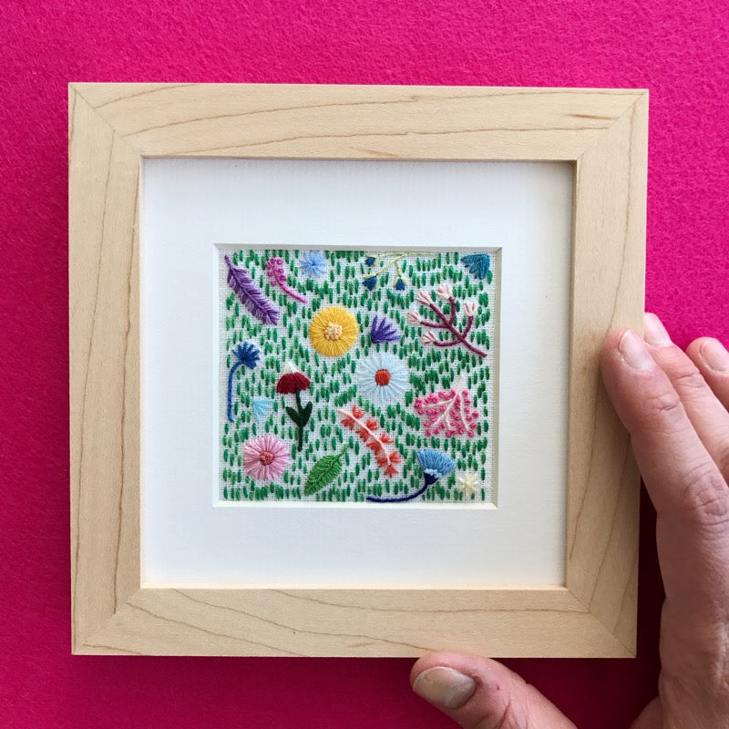 Happy Cactus Designs Hand Embroidered Art. Image and design copyright Happy Cactus Designs.