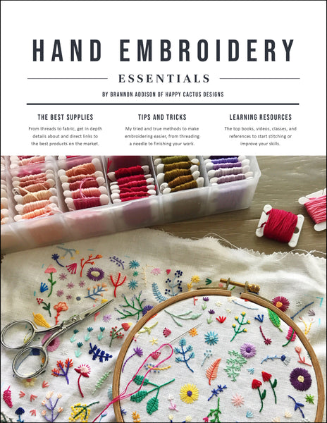 Happy Cactus Designs Hand Embroidery Essentials Guide - Digital Download