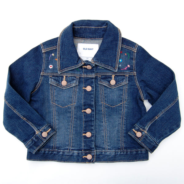 Girl's Embroidered Denim Jacket (Size 2T)
