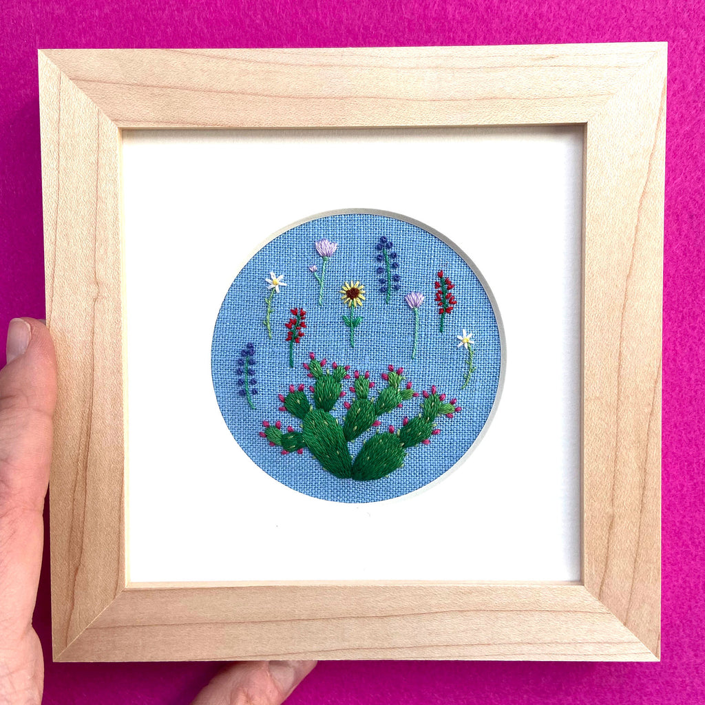 Happy Cactus Designs Hand Embroidered Art • Image and Design Copyright Happy Cactus Designs LLC