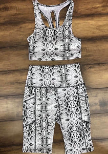 2 piece Biker short set - Top crop included