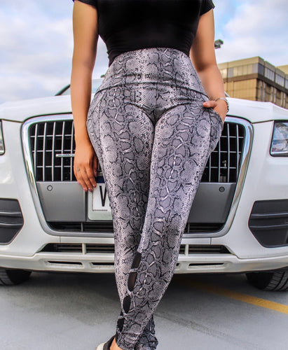 Snake Pocket High Waist Leggings