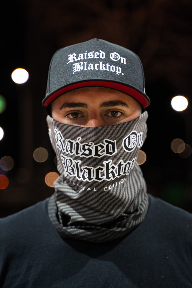 RAISED ON BLACKTOP NECK GAITER