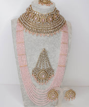 Load image into Gallery viewer, Mukta Statement Bridal Choker set - Clear Crystal