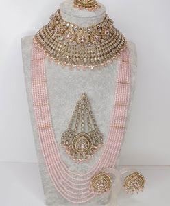Mukta Statement Bridal Choker set - Clear Crystal