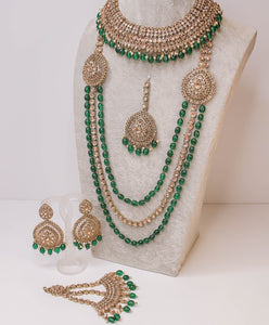Pavan Semi Bridal Set - Bottle Green